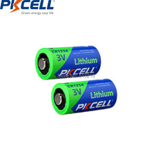 2 sztuk PKCELL CR123A 3V bateria litowa Li-MnO2 baterii CR123 123A CR17345 KL23a VL123A DL123A 5018LC EL123AP do latarki LED