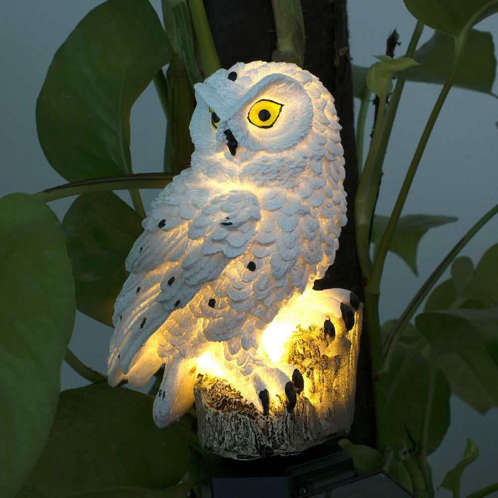 Owl Shape Solar-Powered Lawn Lamp For Outdoor Yard Garden Lighting Decoration
