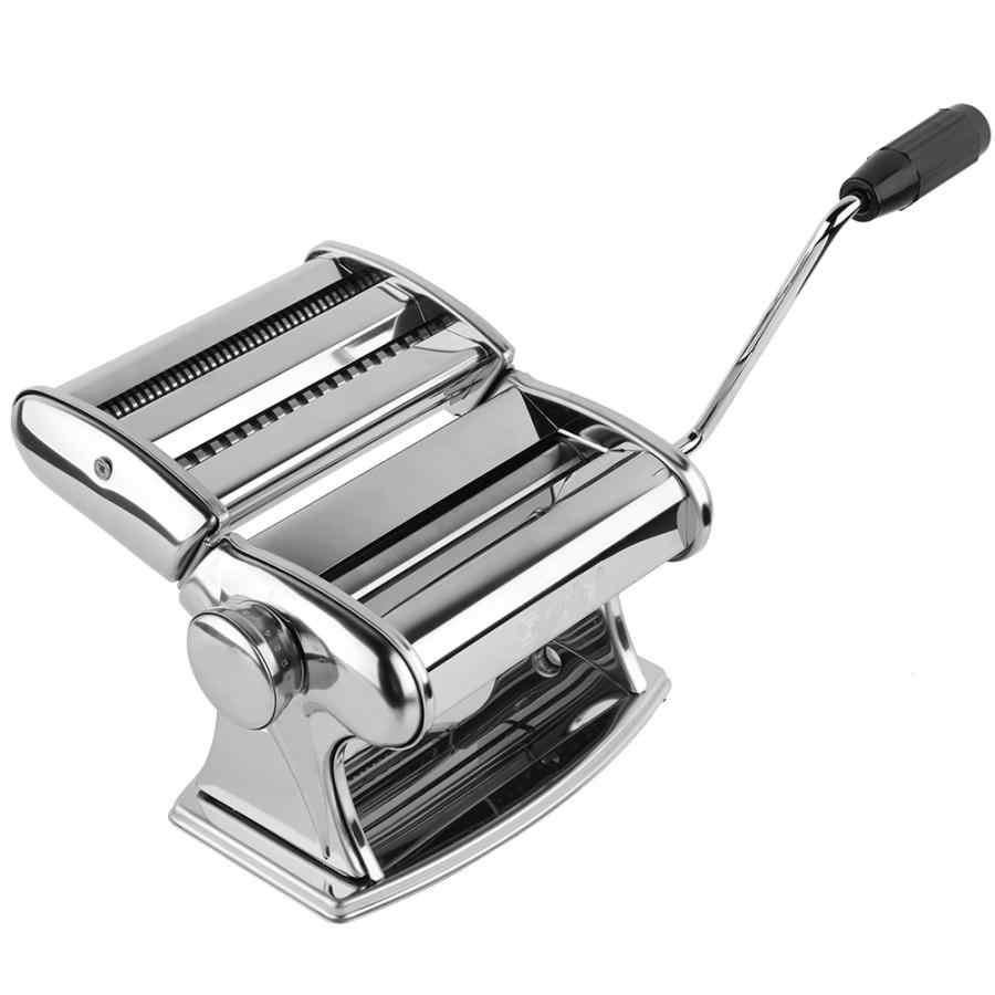Makaron ze stali nierdzewnej ręczne urządzenie do gotowania makaronu ręcznie Spaghetti makaron naciśnij maszyny rolki ręczne krajalnica do ciasta wieszak na