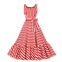 цена Sisjuly Summer Vintage Long Dresses Striped Elegant Casual Plus Size Women Sweet Strapless Zipper Lady Chic Female Retro Dress онлайн в 2017 году