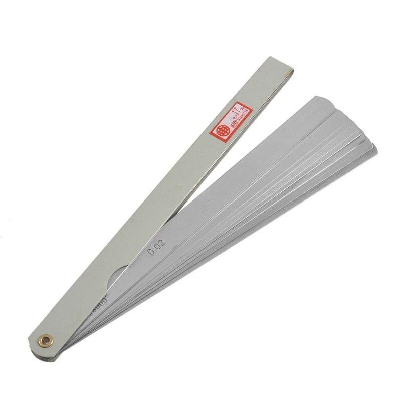 200mm de longueur 17 feuilles 0.02mm-1.0mm décart mesure dépaisseur jauge de jauge