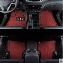 Decoration Automovil Accessories Styling Accessory Mouldings Modification Modified Carpet Car Floor Mats FOR Hyundai Tucson customized car floor mats for hyundai starex h 1 travel imax i800 h300 matrix lavita terracan high quality car styling carpet