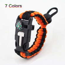 Multi-functional Outdoor Bracelet Camping Hiking Escape Tool Military Emergency Wrist Strap Wilderness Field Survival