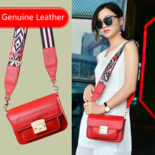 New Fashion 2019 Luxury Genuine Leather Handbag  Bolsa Feminina Ladies Crossbody Bag Big Star Same Style