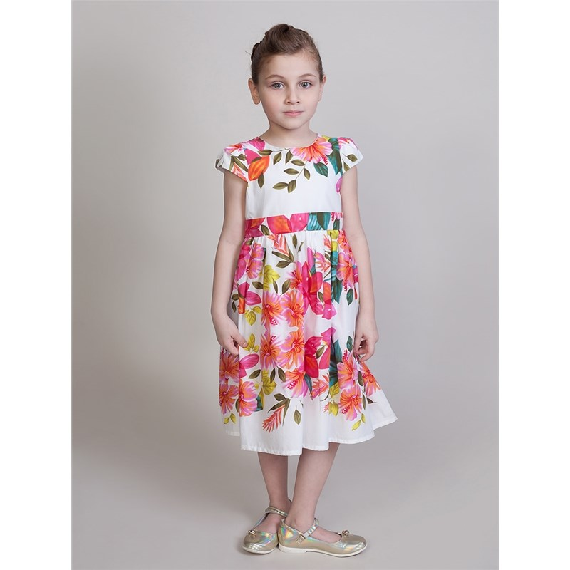 [Available with 10.11] Dress textile for girls sweet sleeveless round neck sequin embellished flower princess dress for girls