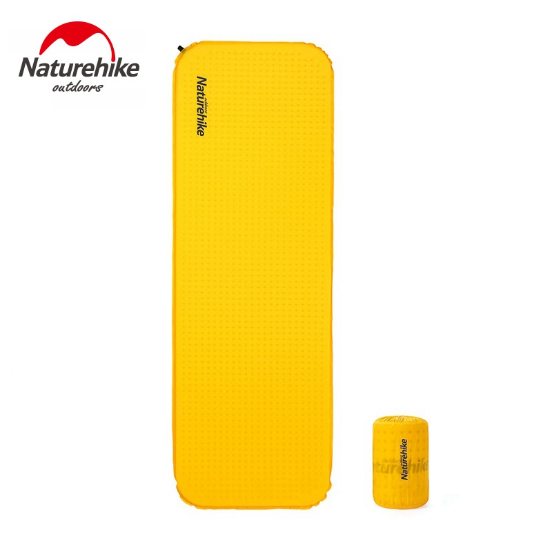 Naturehike Self inflating Camping Mat High Quality Sponge Camping Mattress Outdoor Hiking Lengthened Sleeping Pad-in Camping Mat from Sports & Entertainment    1