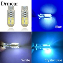 Car LED T10 W5W DC 12V Canbus 24SMD Silicone shell Lights Bulb No Error Led Parking Fog light Auto car-styling(China)