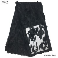 Mr.Z Beads Latest African Tulle Lace Fabric High Quality Black Nigerian Bridal Lace Fabric Embroidery African Lace Fabric Sequin