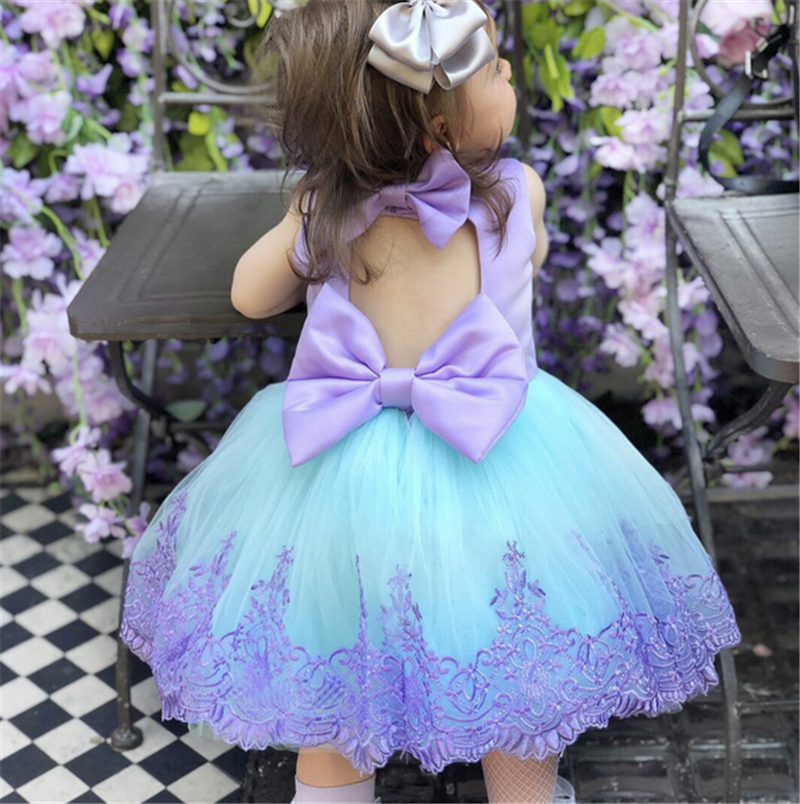 Girl Dress Kids Dresses For Girls Lace Kid Baby Girl Princess Pageant Bridesmaid Formal Gown Prom Tutu Dress Baby Girl Clothes(China)