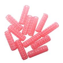 Горячая Распродажа 12 шт. розовый пластик DIY для укладки волос роликовые бигуди зажимы