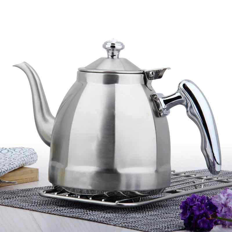 Stainless Steel 1.5L Water Kettle Induction Cooker Camping Kettles Stove Whistling Water Gas Teapot Cooking Tools Kitchen