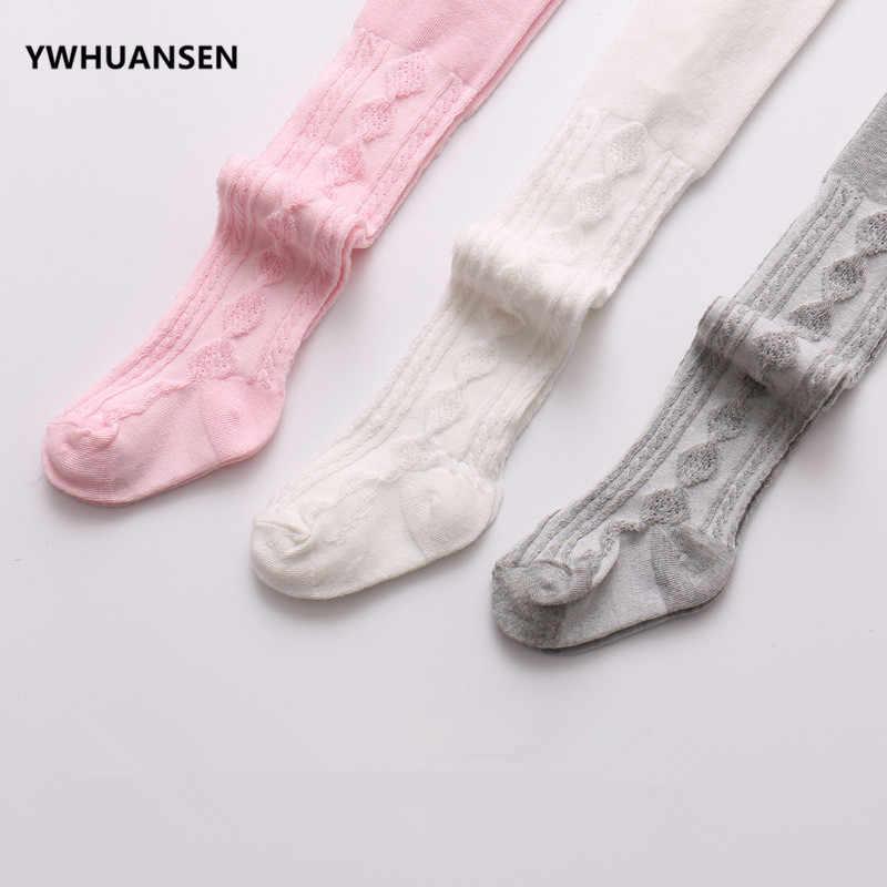 YWHUANSEN 0-6 Yrs 봄 여름 가을 귀여운 아기 소녀 메쉬 케이블 니트 스타킹 코튼 통기성 팬티 스타킹 유아 소녀 판매
