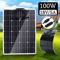 Brand Solar Panel 100W Monocrystalline Silicon 18V 800X540X2.5MM Size Light weight Bendable Flexible Top quality Solar battery