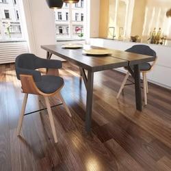 Vidaxl 2 Pcs Living Room Chairs Comfortable Leisure Chair High Quality Luxurious Fabric Home Decorative Black Seat