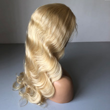 Body Wave 613 Blonde Lace Front Human Hair Wigs With Baby Hair European Lace Front Wig For White Women Pre Plucked Hairline 8-24(China)
