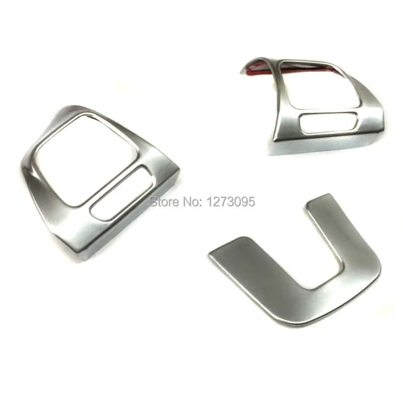 Pour Volkswagen Tiguan 2010-2012 2013 ABS panneau de commande de volant de voiture couvercle de bouton garniture protecteur accessoires de style de voiture