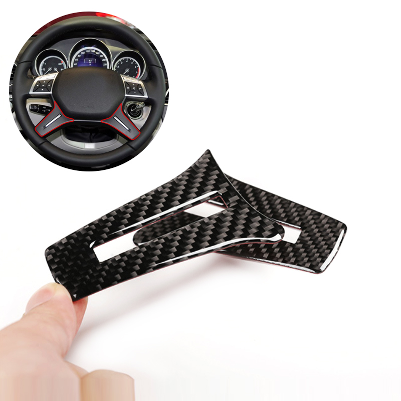 For Mercedes Benz C Class W204 2005 2006 2007 2008 2009 2010 2011 2012 2pcs Carbon Fiber Car Steering Wheel Panel Cover-in Interior Mouldings from Automobiles & Motorcycles