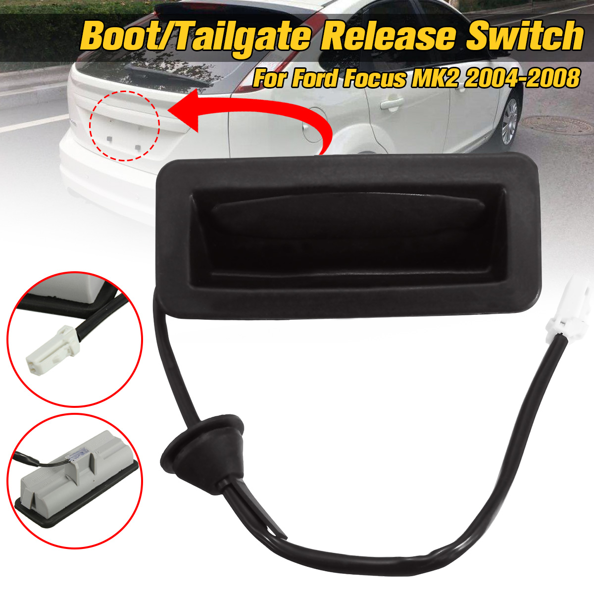 Trunk Switch With Wire Boot Tailgate Release Car Switch For Ford for Focus MK2 2005 2006 2007 2008 3M5119B514AC(China)