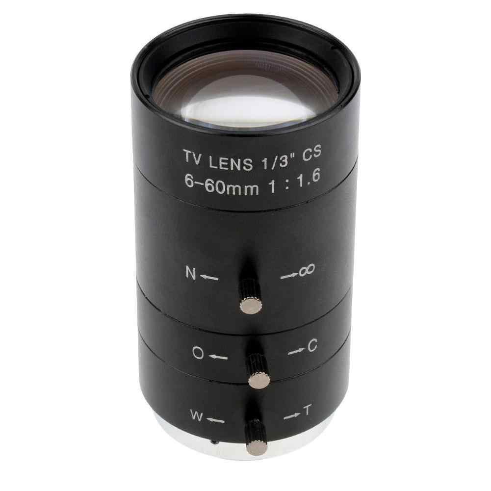 6-60mm Varifocal F1.6 CS C Gắn Ống Kính cho Công Nghiệp Kính Hiển Vi Kỹ Thuật Số Camera 2019NEW