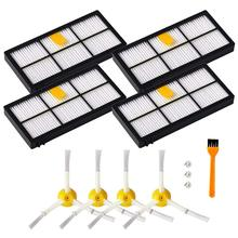 New Hot Accessories for iRobot Roomba 800 & 900 Series Vacuum Cleaner Replacement Parts with 4 x Filters,4 x Side Brushes, 1 x 5x side brushes 5x filters replacement for irobot roomba 800 900 860 880 980 960 870 robotic cleaner parts accessories