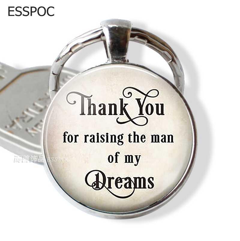 Merci d'avoir élevé l'homme de mes rêves. Porte clé pour marié père mère mariage pendentif fête des mères porte-clés porte-clés