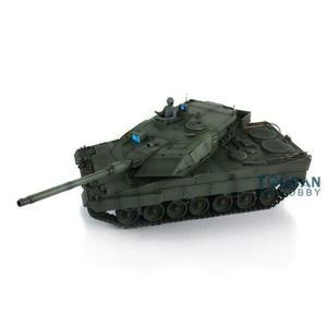 Image 4 - Henglong 1/16 зеленый 6,0 версия инфракрасный боевой Leopard2A6 RC Танк 3889 отдача ствола металлический трек Резина TH12771