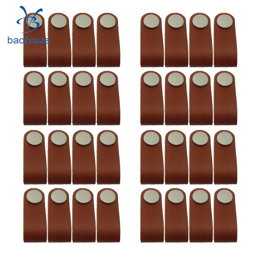 32x nordique armoire armoire porte poignée souple PU cuir porte poignées pour placard tiroir tirer boutons meubles matériel
