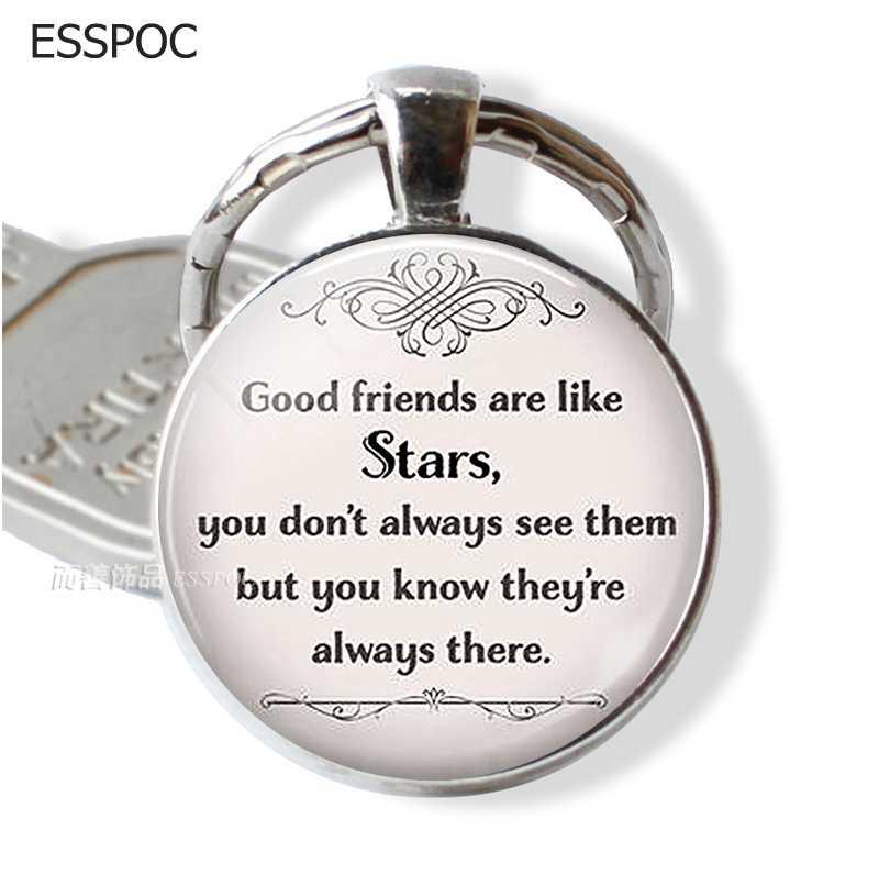 Хорошие друзья как звезды дружбы ювелирные изделия лучший брелок лучшему другу цепочка для ключей, брелок дружеский подарок