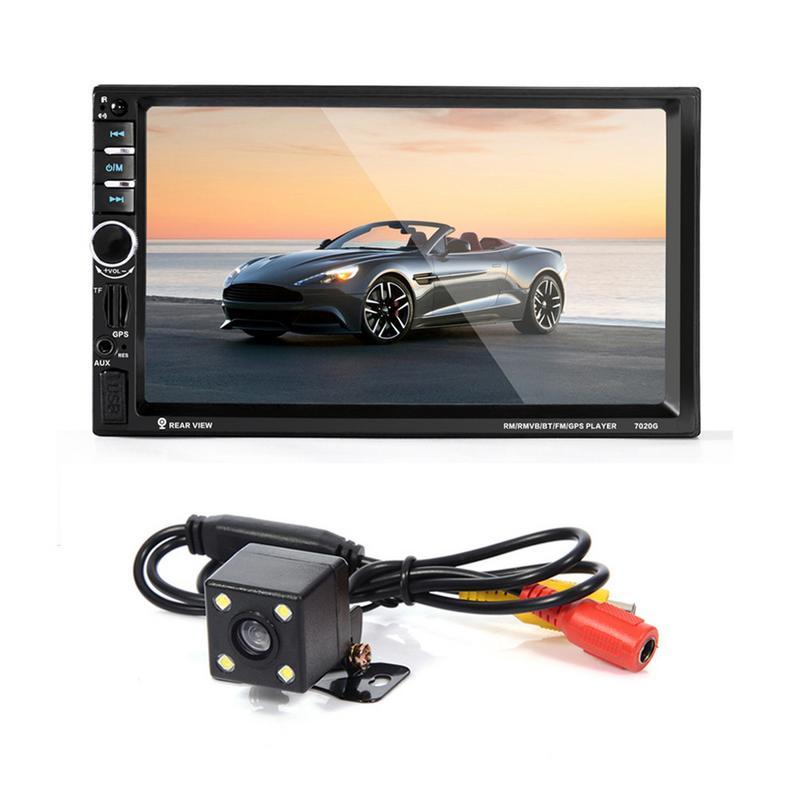 Lecteur de voiture Bluetooth MP5 7 pouces lecteur de voiture GPS Navigation voiture FM Radio lecteur vidéo avec vue arrière LED caméra voiture Audio U Flash