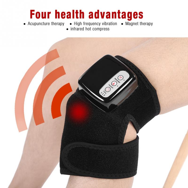 Arthritis Knee Pain Relieve Massager Physiotherapy Heat Vibration Brace Wrap Tool