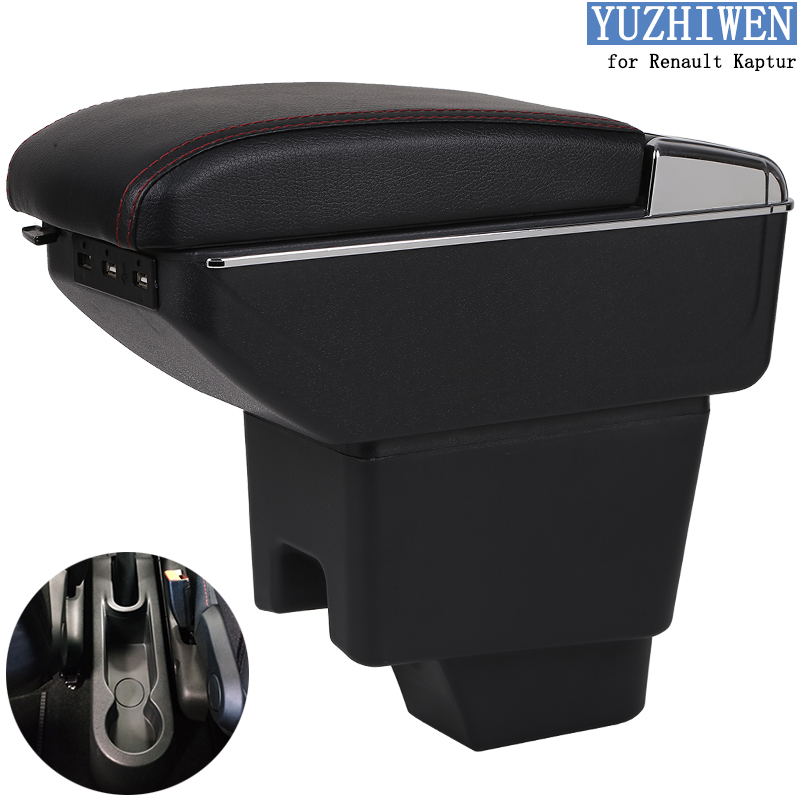 For Renault Kaptur Armrest Box Kaptur 1 Universal Car Central Armrest Storage Box cup holder ashtray