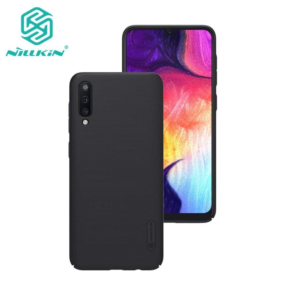 For Samsung Galaxy A50 Case Cover NILLKIN Fitted Cases Super Frosted Shield with gift phone stand and Retail package. Fitted Cases     - title=