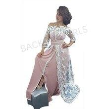 Elegant Evening Dresses Three Quarter Sleeve Prom Dress