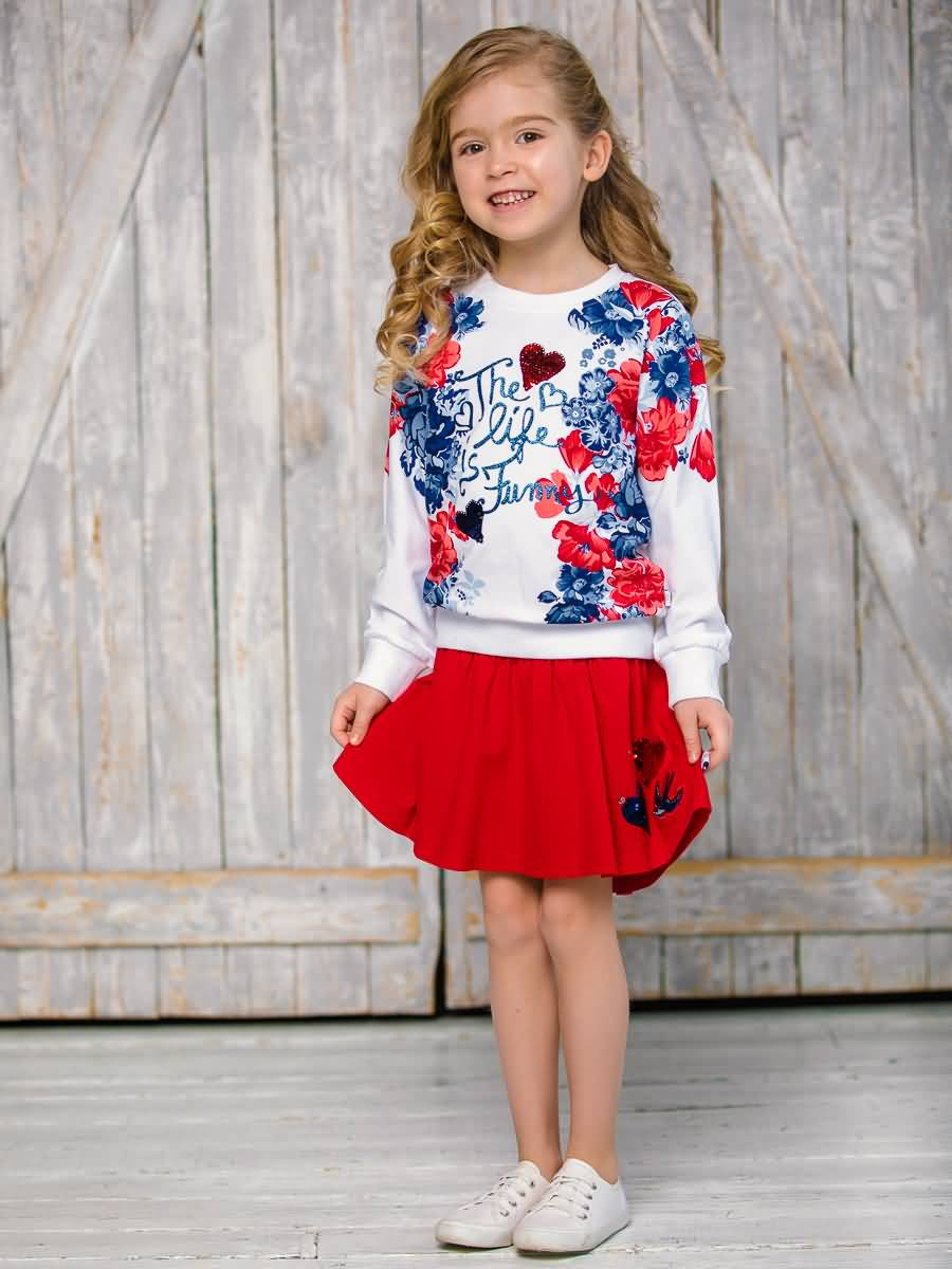 Skirt knitted Sweet Berry for girls цена