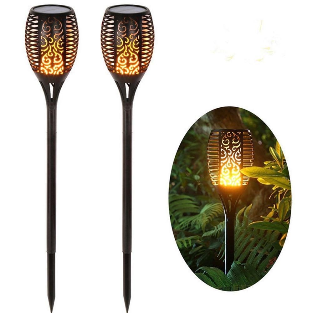 chama bruxuleante solares jardim lampada luz da tocha 96 leds ip65 holofotes ao ar livre paisagem