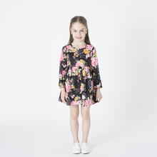 Girls dress long sleeve spring and autumn 2019 new cotton print flower childrens clothing