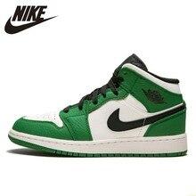 low priced b70da 0bb39 Nike nueva llegada Air Jordan 1 De Aj1 mujeres zapatos de baloncesto blanco  verde zapatos cómodos