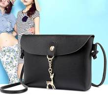 Simple PU Leather Women Casual Shoulder Bags Pure Messenger Phone Handbags(China)