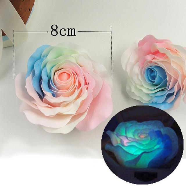9 Pcs Soap Flower Luminous Roses Sterilized Soap Bathing Shower Tool Fashion Practical Creative Gift Box for Birthday Valentine
