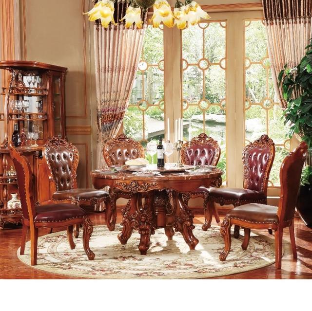 Clásico muebles de comedor de madera de la mesa de la cocina de ...