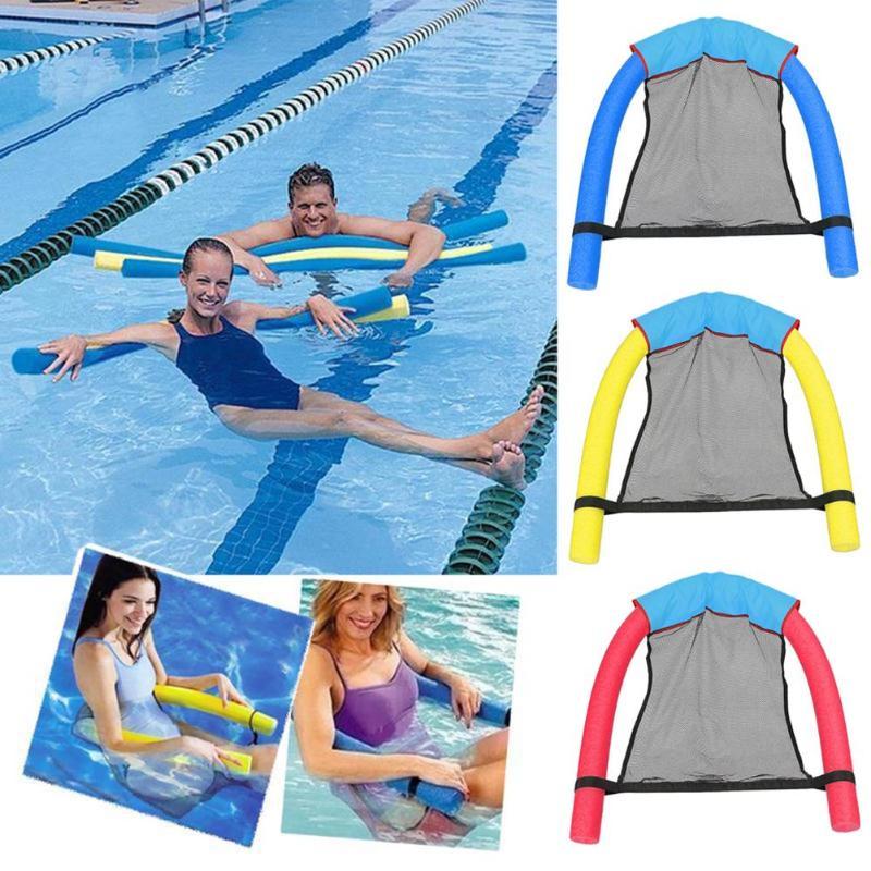 1 piezas de poliéster flotante piscina de red Honda de malla de flotar silla neto para piscina fiesta niños cama para adultos asiento agua de relajación