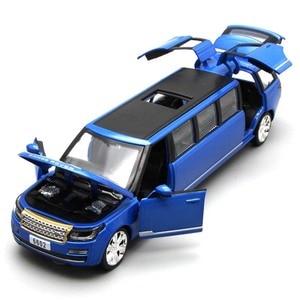 Image 3 - 1:32 Alloy ยืดลีมูซีน Diecast รถยนต์รุ่นของเล่นดึงกลับเสียงแสงเด็กของเล่นสำหรับของขวัญเด็ก