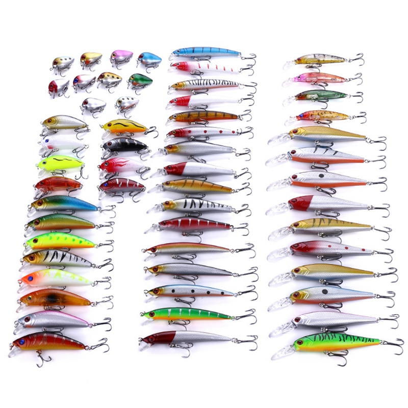 Heng Jia Fishing Lures Kit Set Hard Baits Pencil For Bass Pike Fit Saltwater And Freshwater
