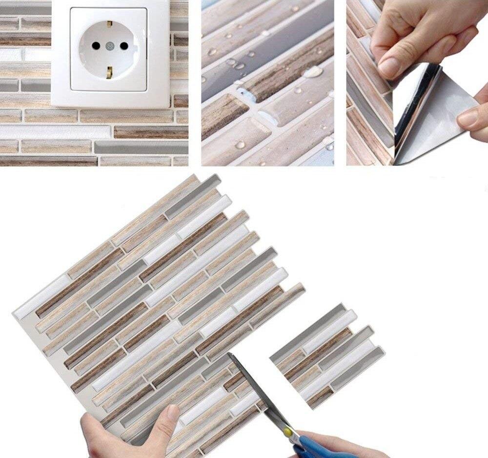 Vividtiles Wood Pattern Easy to DIY Self Adhesive ...