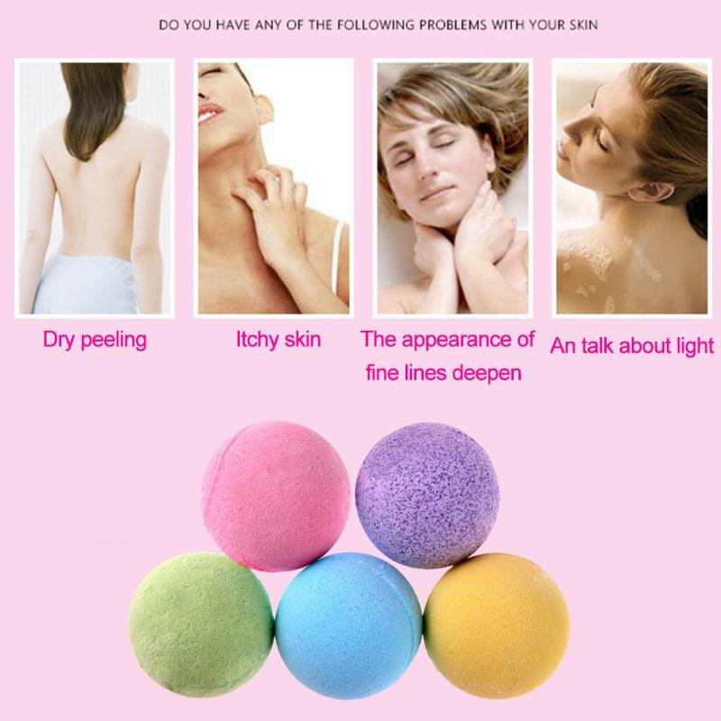 1pc 10g Bath Salt Body Essential Oil Bath Ball Body Skin Whitening Ease Relax Stress Relief Natural Bubble Shower Bombs Ball