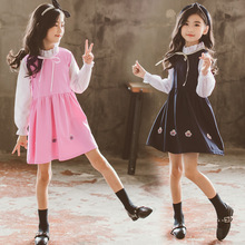 2019 New Spring Autumn Kids Girls Dresses Fashion Full Sleeve O-neck Solid Cute Girl Princess Dress Children Clothing цены