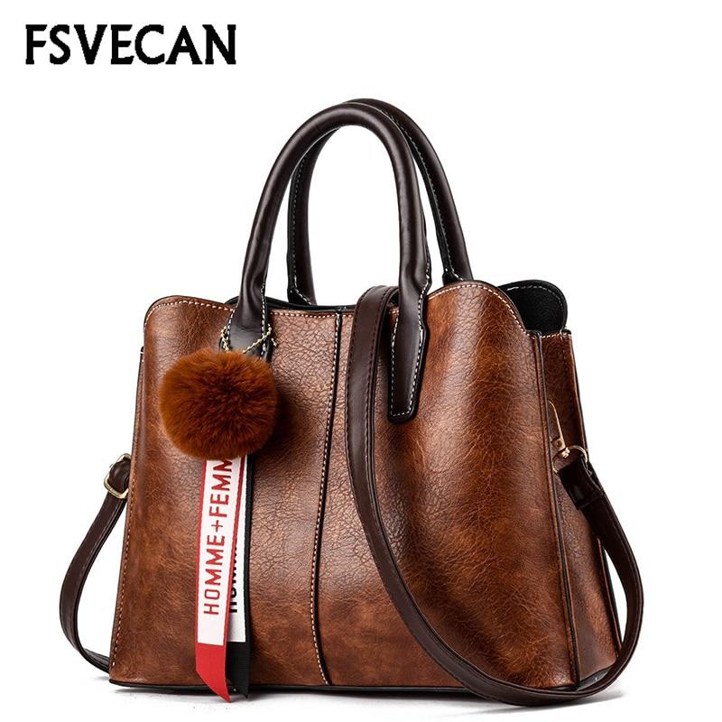 2019 New Arrival Luxury Leather Bags Women Designer Handbags Fashion Brand Desiney Fur Crossbody Shoulder Ladies Bag Female