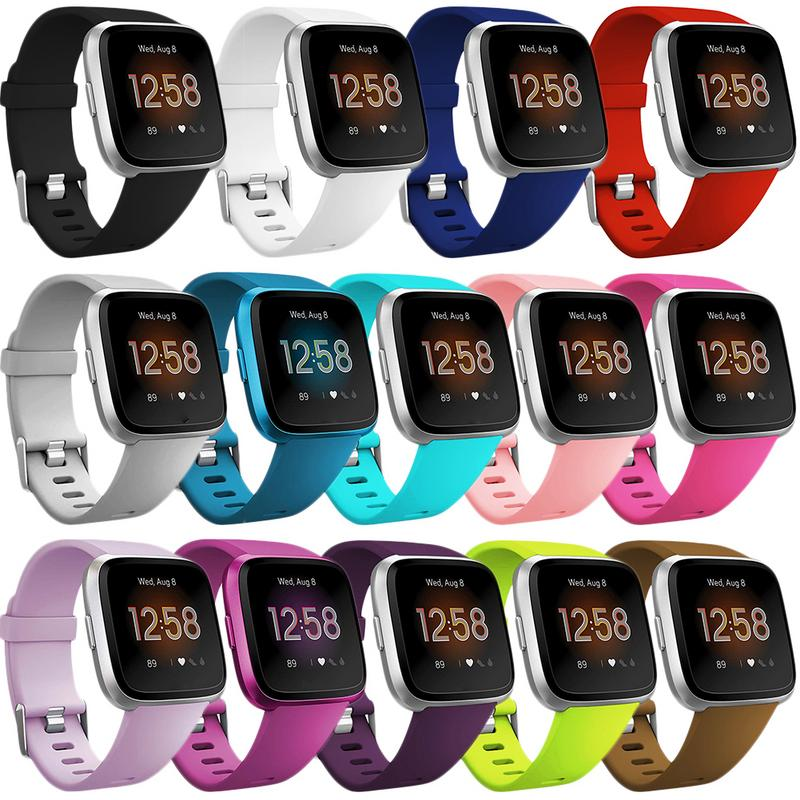 High Quality Soft Silicone Secure Adjustable Band For Fitbit Versa/Versa Lite Band Wristband Strap Bracelet Fit Bit Watch Straps