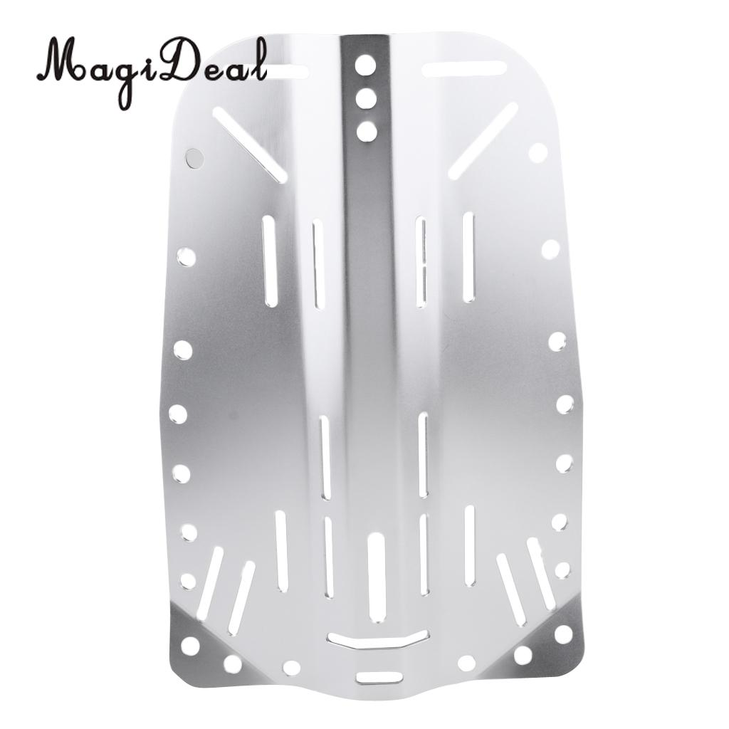 Heavy Duty Silver Aluminum Alloy Scuba Diving BCD Harness Standard Backplate Back Plate Universal Fit