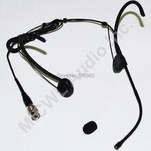 Black Foldable Headset Mic Microphone For Audio-Technica Hirose 4Pin Wireless Mike BeltPack Transmitter New mini 3pin 4pin 3.5mm